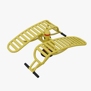 3d model outdoor fitness equipment