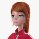 cartoon girl 3D models