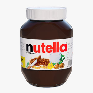 3d model nutella jar