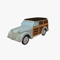 moskvich 400-422 woody 3d obj