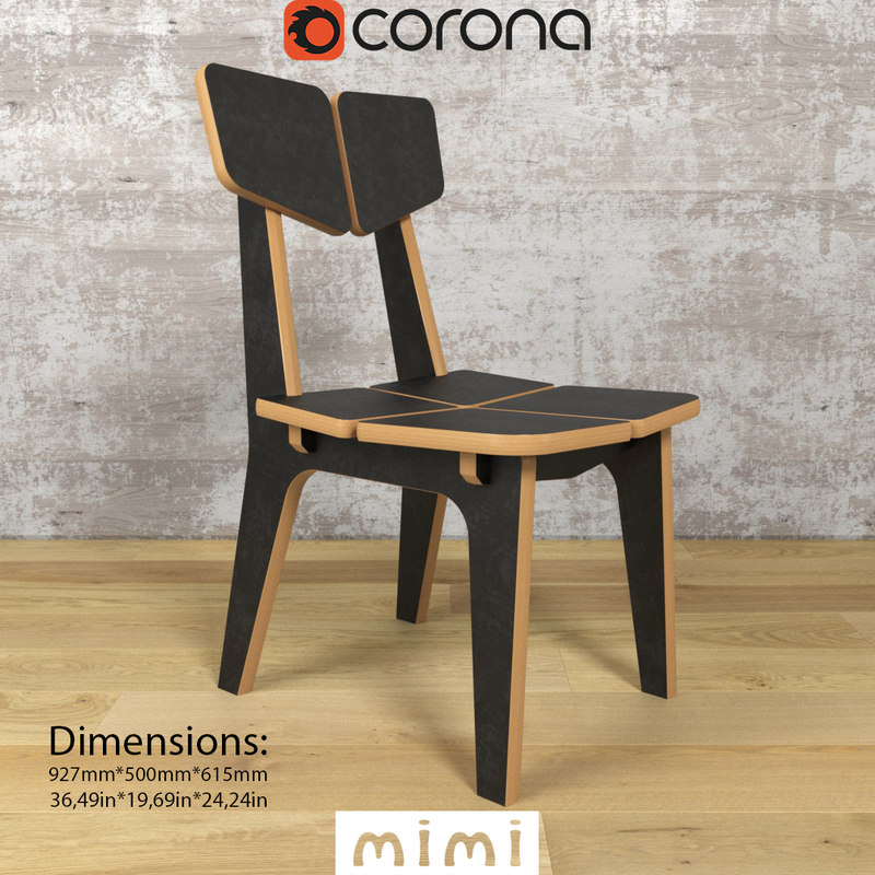 3d max pbr colorset chairs domino