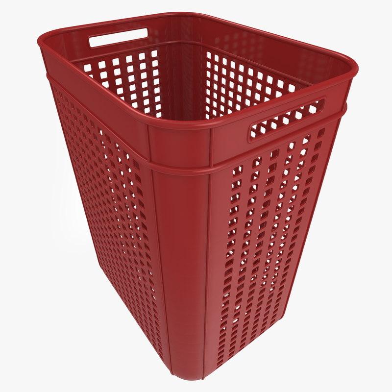 3d model realistic plastic crate