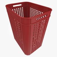 realistic plastic crate 3d max