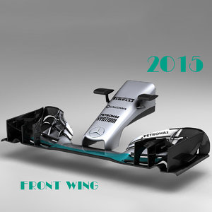 wing mercedes w06 3d 3ds