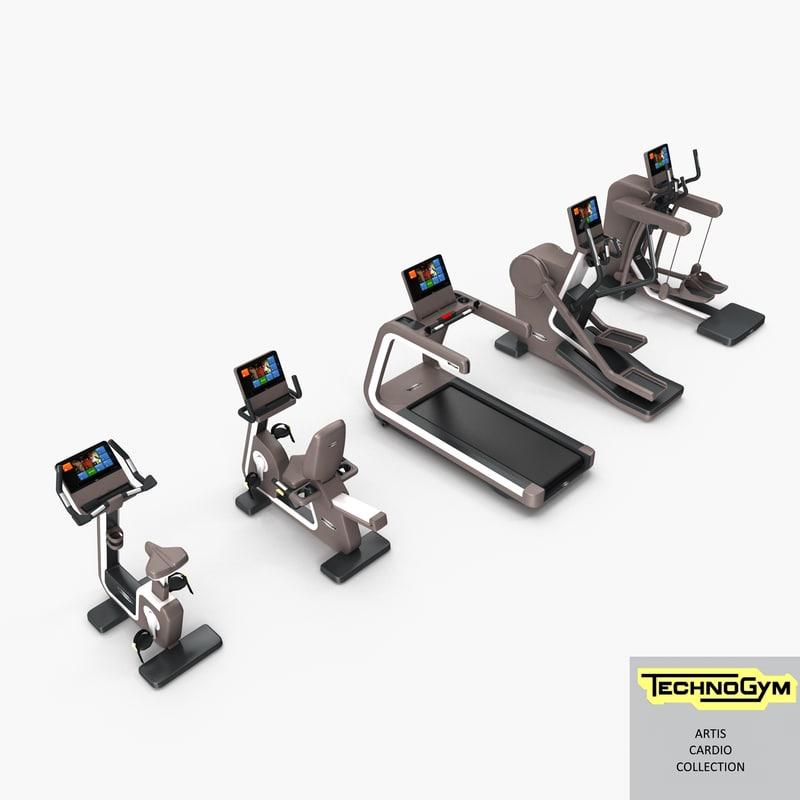 artis cardio group gym 3d max