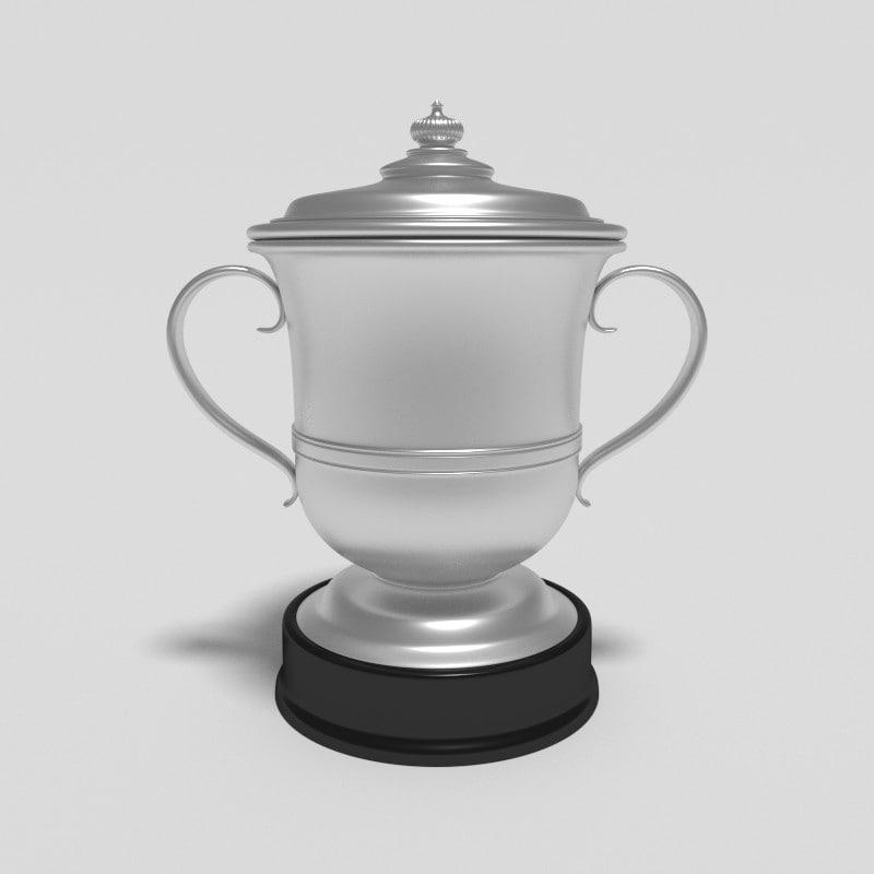 3d model football trophy