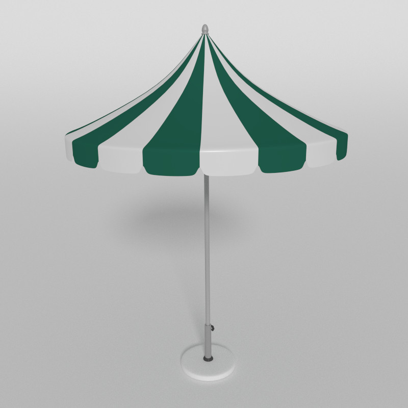 3d parasol umbrella beach
