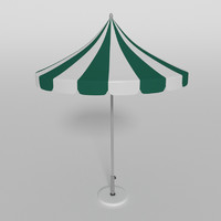 3d parasol umbrella beach