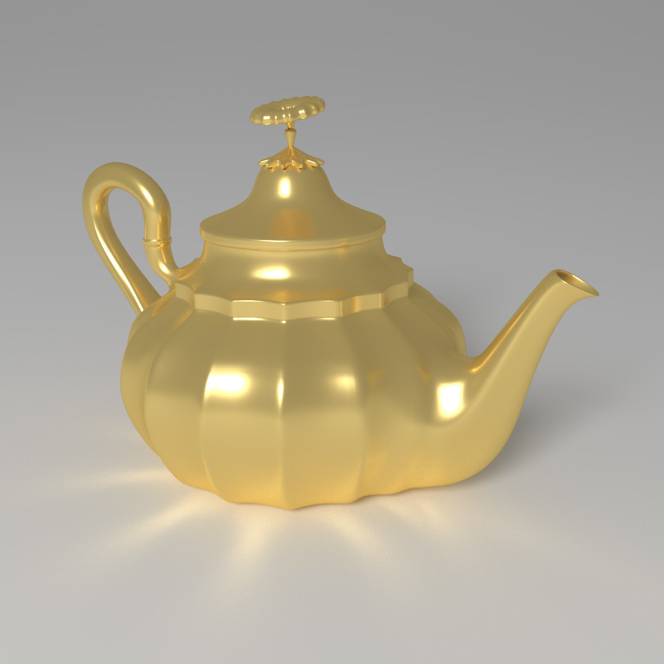 3d aladdin magic lamp model