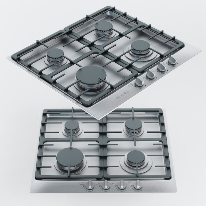 3d miele 4-burner km model