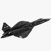 northrop yf-23 black widow 3D model