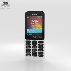 nokia 215 white 3D