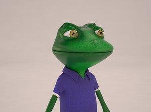 3d max cartoon frog