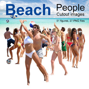 Beach & Resort People Cutout Images