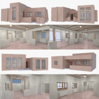 3D model adobe interior building