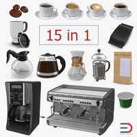 Coffee 3D Models Collection 2