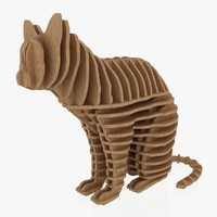 3d jigsaw puzzle cat 1 model