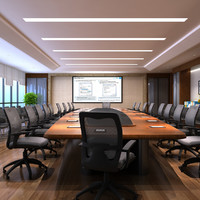 3d model of conference room