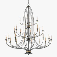 3D currey company folgate chandelier