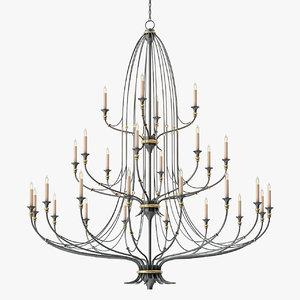 3D currey company folgate chandelier
