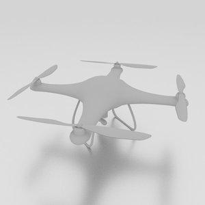 3d model quad copter drone camera