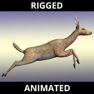 deer doe stag 3d model