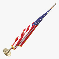 3d oval office usa flag