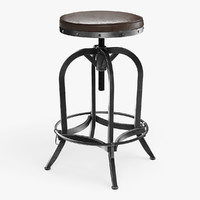 Adjustable Height Industrial Stool 04
