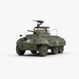 ww2 m8 greyhound armored car 3d max