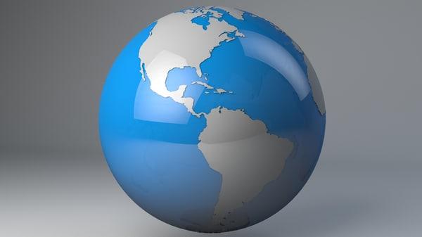 3d c4d earth water landmass