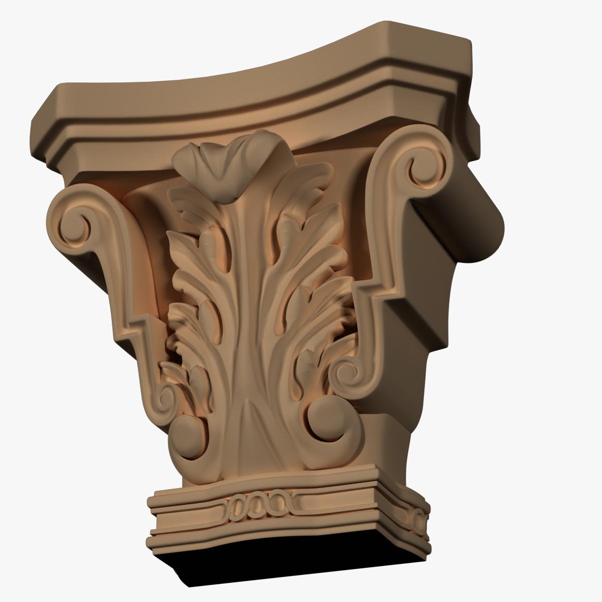 3d column capitol model