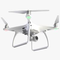 drone dji phantom 4 3d 3ds