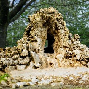 3d cave landscape model