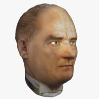 3d sculpture ataturk model
