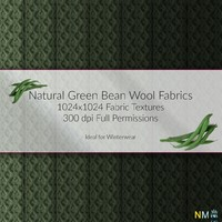 Green Bean Wool Fabric