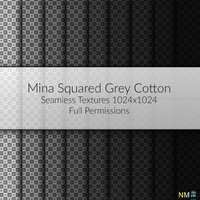 Mina Squared Grey Scale