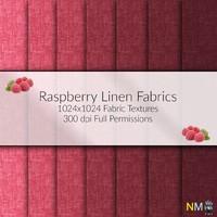 Raspberry Linen Fabric Textures