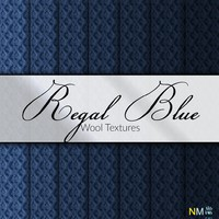 Regal Blue Wool Fabric Textures