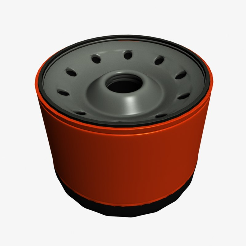3d model oil filter