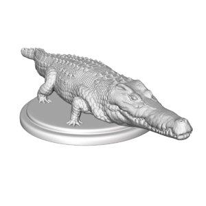 3d crocodile print