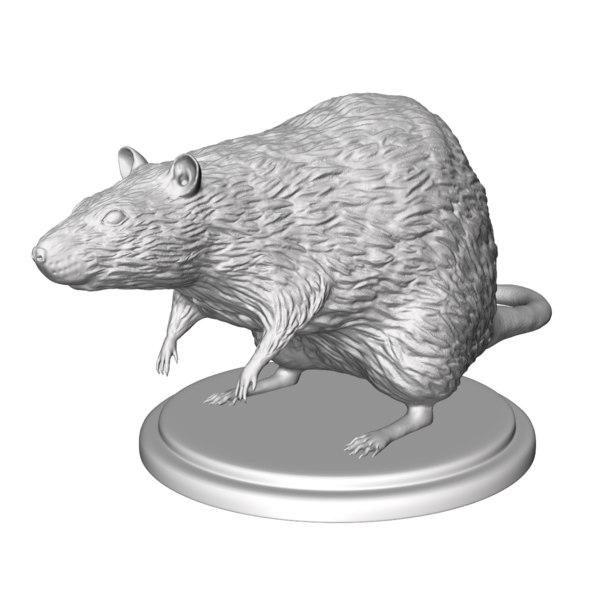sculpture rat 3ds free