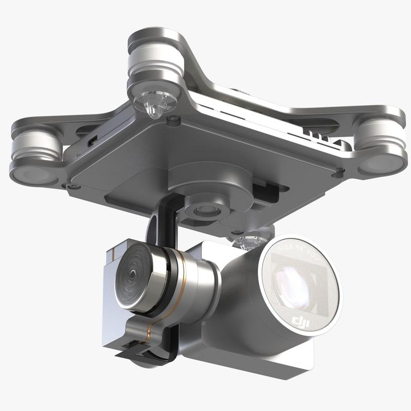 camera 4k quadrocopter phantom 3d 3ds
