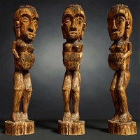 Tall African Wooden statue