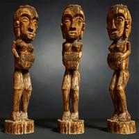 Tall African Wooden statue