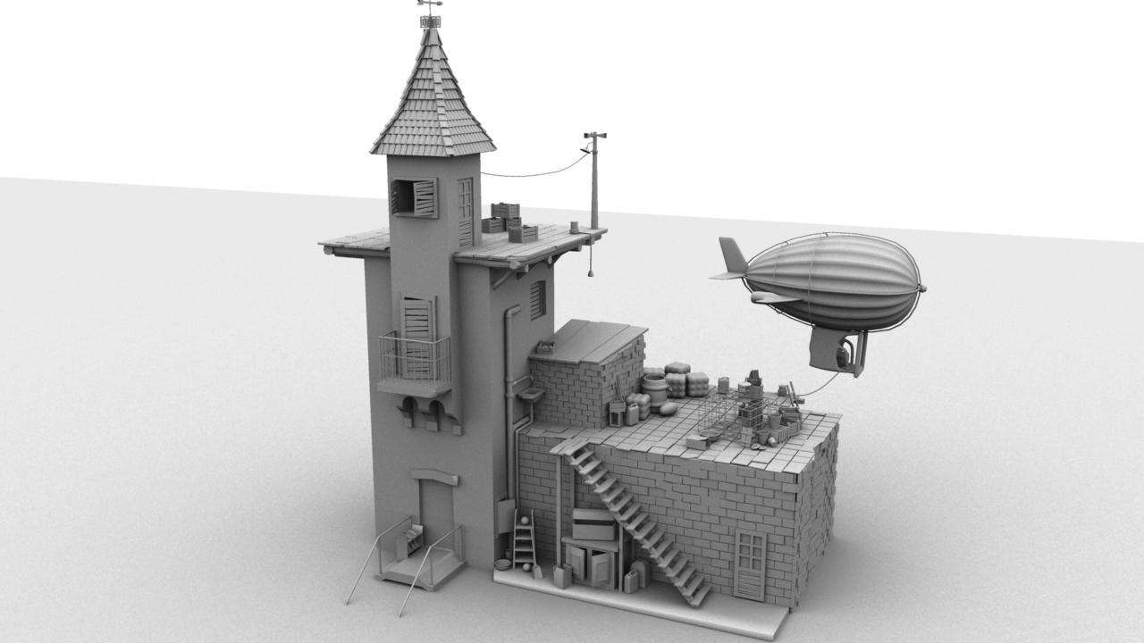 airship obj