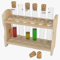 test tubes rack 3D model