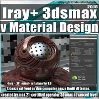 Iray + in 3dsmax 2016 vMaterial Design Vol 9.0 Cd Front