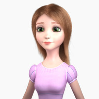 Jessica Cartoon Girl Rigged