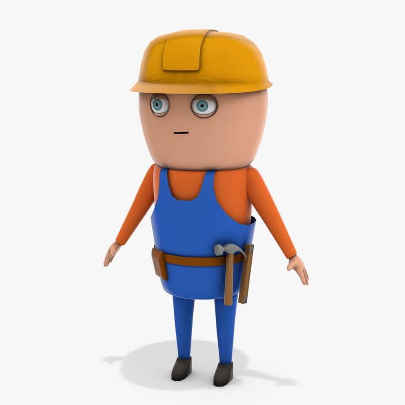 cartoon builder 3D model