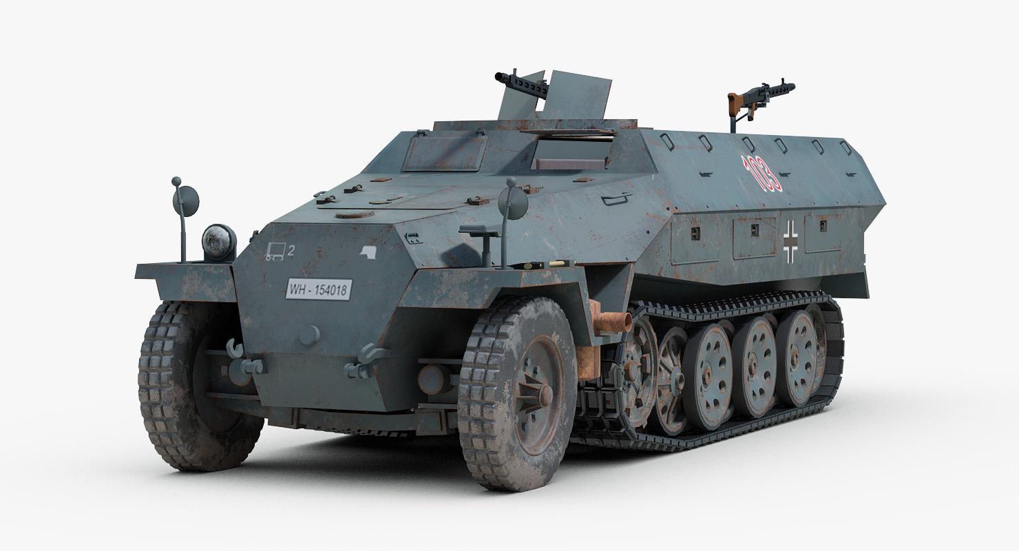 ww2 german hanomag sdkfz 3ds